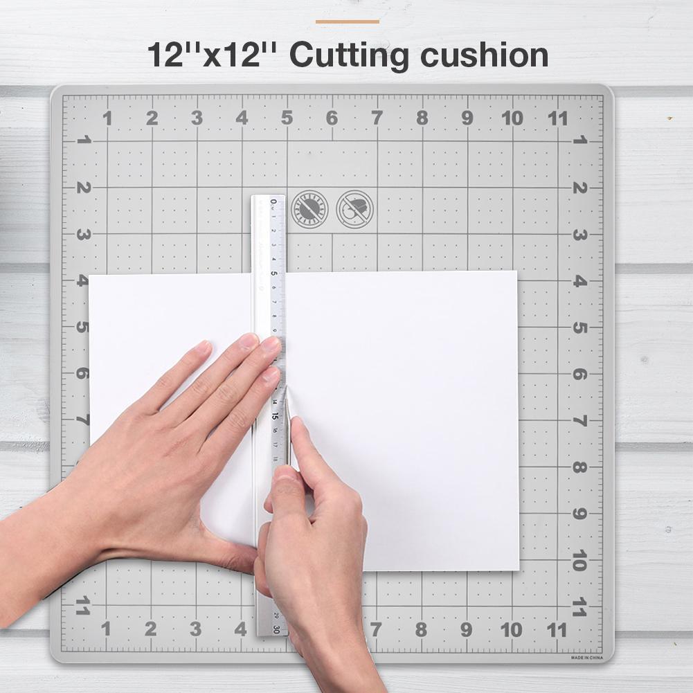 DIY 12''x12'' Cutting Mat Environmentally Material Lightweight Cutting Cushion Grid Lines Craft Card Fabric Paper Board Handmade