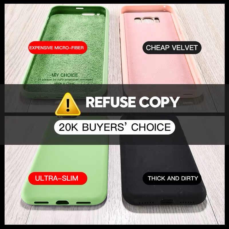 Mỏng Mềm Dành Cho iPhone 7 8 6 6 S Plus 4 Ban Đầu Silicone Lỏng Bao Màu Kẹo coque Capa Cho Iphone X XS 11 Pro Max XR
