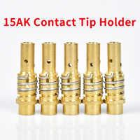 Soporte de punta de contacto 15AK soporte de boquilla de Gas de 5 uds con muelle de boquilla para antorcha de soldadura MIG MAG