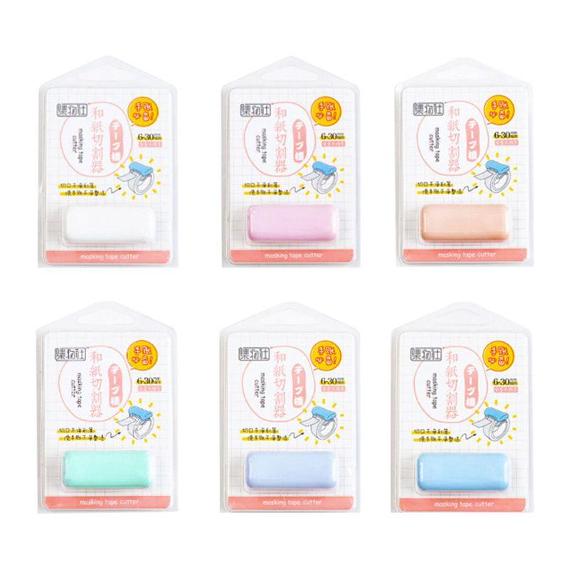 Mini Adhesive Washi Paper Tape Dispenser Cutter Kawaii Portable School Supplie