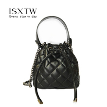 ISXTW Luxury Ladies Handbag 2019 High Quality Leather Velvet Rhombic Famous Designer Chain Female Diagonal Package/A56
