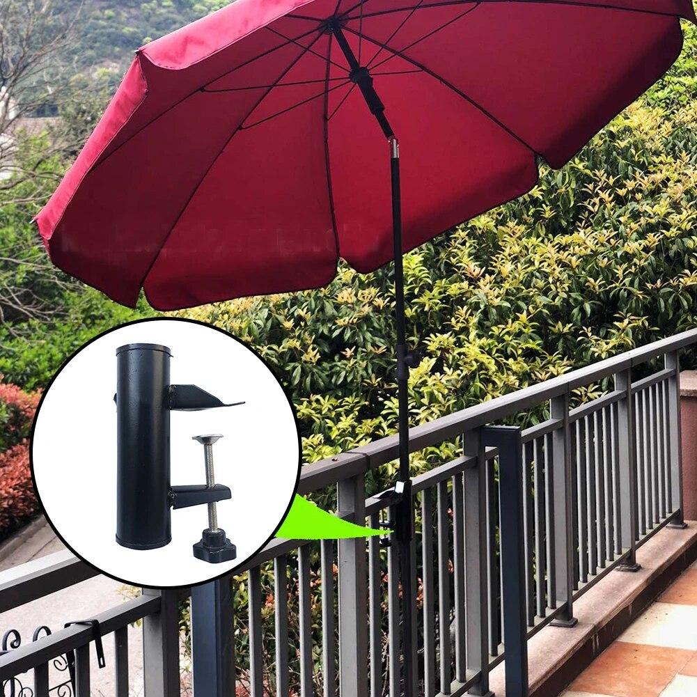 Garten Hof Hause Balkon Tragbare Halterung Terrasse Sonnenschirm Angeln  Regenschirm Halter Fest Clip Stuhl Clamp Strand Universal
