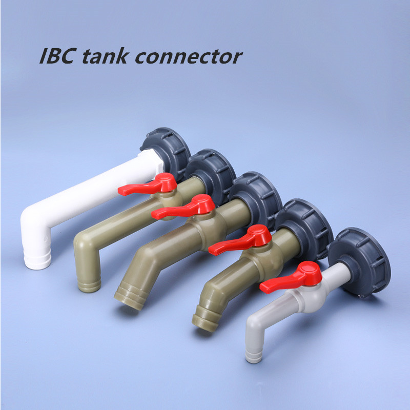 Plastic IBC Tank Adapter S60X6 Garden Hose Faucet Connector Water Tank Hose Replacement Connector Fitting 1/2