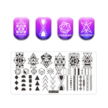 Stamping Plate Irregular Shape Theme Stainless Steel Fall Design Overprint Nail Stamp