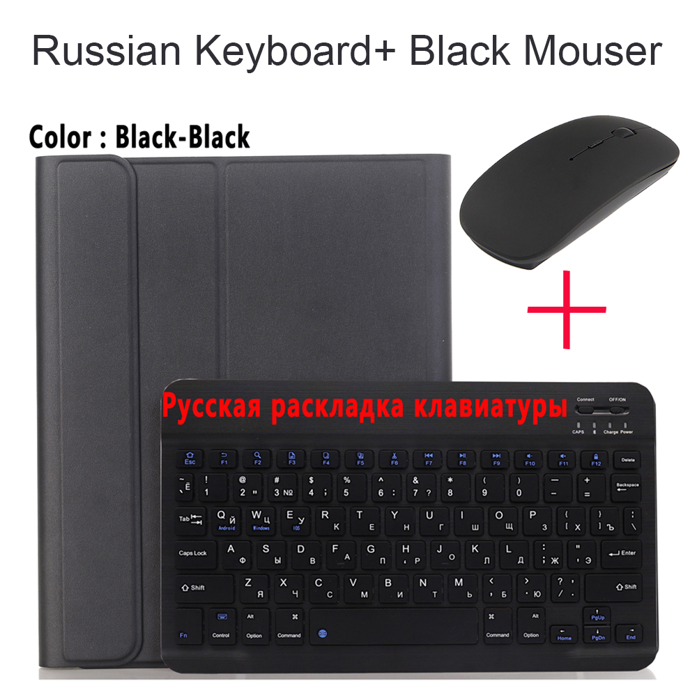 Russian With Mouse Grad Orange For iPad Air4 10 9 2020 A2324 A2072 Keyboard Mouse Case English Russian Spanish Korean Keyboard