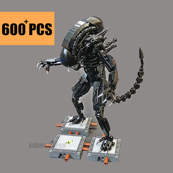 цена на New MOC-27578 Movie Aliens Vs Predator Mech Model Building Blocks Bricks Fit Technic Aliens Star Wars Toys Kid Gift Lepinings