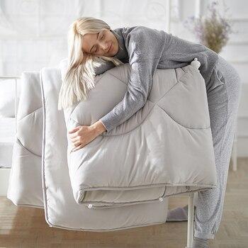 Nuevo edredón de estilo asequible y cómodo edredón de invierno de lujo manta caliente suave edredón 100% tejido de plumas Multicolor elija