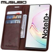 Musubo Luxe Case Voor Samsung Galaxy Note 10 Lederen Cover Voor Funda Note 9 Flip Portemonnee S20 S10e S10 + Card Telefoon Coque