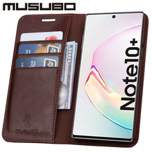Musubo Luxury Case For Samsung Galaxy Note 10 Genuine Leather Cover for Funda Note 9 Flip Wallet S20 S10e S10+ Card Phone Coque