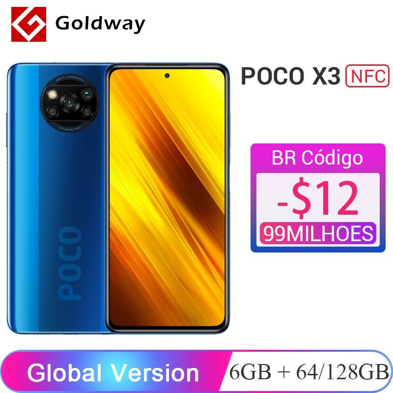 Глобальная версия Xiaomi POCO X3 NFC 6 ГБ 64 ГБ / 128 ГБ Смартфон Snapdragon 732G 8-ядерный процессор 64 Мп Четыре камеры 6,67