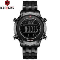 KADEMAN Men Watches TOP Military Sport Steps Digital Watch Luxury Brand Full Steel Multifunction Wristwatches Male Clock Relogio