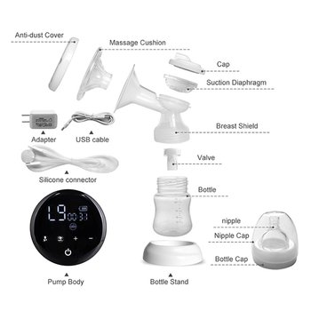 Double Electric Breast Pumps Touch Screen Single Double Nipple Suction Powerful Automatic Milk Pump For Maternity Breast Feeding 1