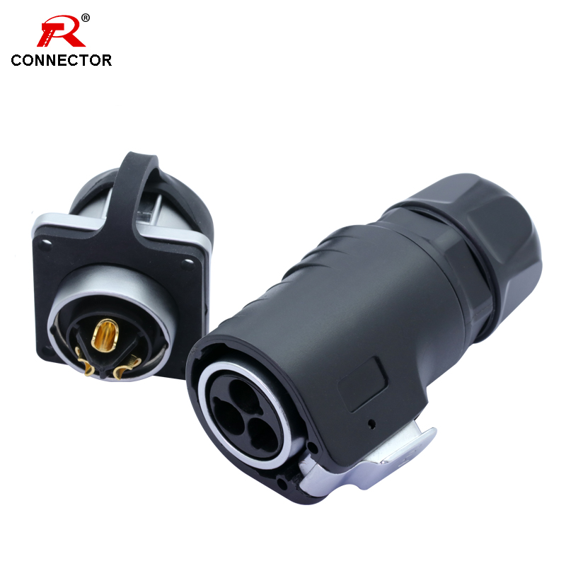 1set High-power Waterproof Fast-Plug XLR Connector,3pins, Zinc Alloy+plastic+pure Copper Contact,Current 15-50A, IP67