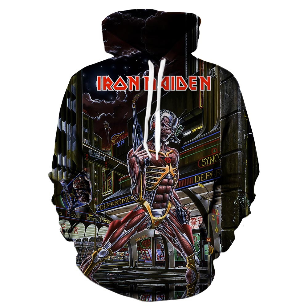 High-quality skull series printed hoodie new design spring and autumn personality long sleeve street wear hoodie