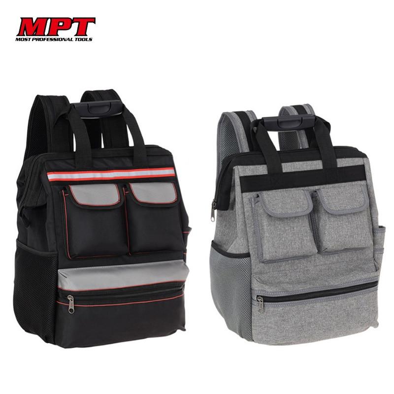 MPT Shoulder Tool Bag Backpack Elevator Repair Belt Hardware Kit Organizer Oxford Cloth Canvas Travel Bags Electrician Work Bag