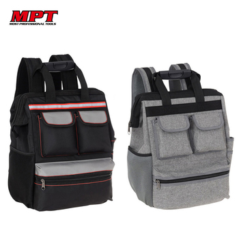 цена на MPT Shoulder Tool Bag Backpack Elevator Repair Belt Hardware Kit Organizer Oxford Cloth Canvas Travel Bags Electrician Work Bag