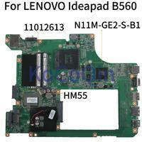 KoCoQin Laptop motherboard Für LENOVO Ideapad B560 HM55 Mainboard 11012613 10203 1 LA56 MB 48.4JW06.011 N11M GE2 S B1 Laptop-Hauptplatine    -
