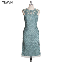 Women Summer Autumn Green Dress Elegant Lace Dress Female Large Size Evening Party Dresses vestido Real Pictures