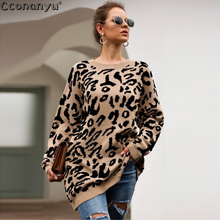 pullovers sweater print leopard