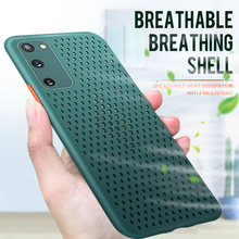 Heat dissipation Breathable case for Samsung S20 Ultra Hollow Solid color soft Silicone