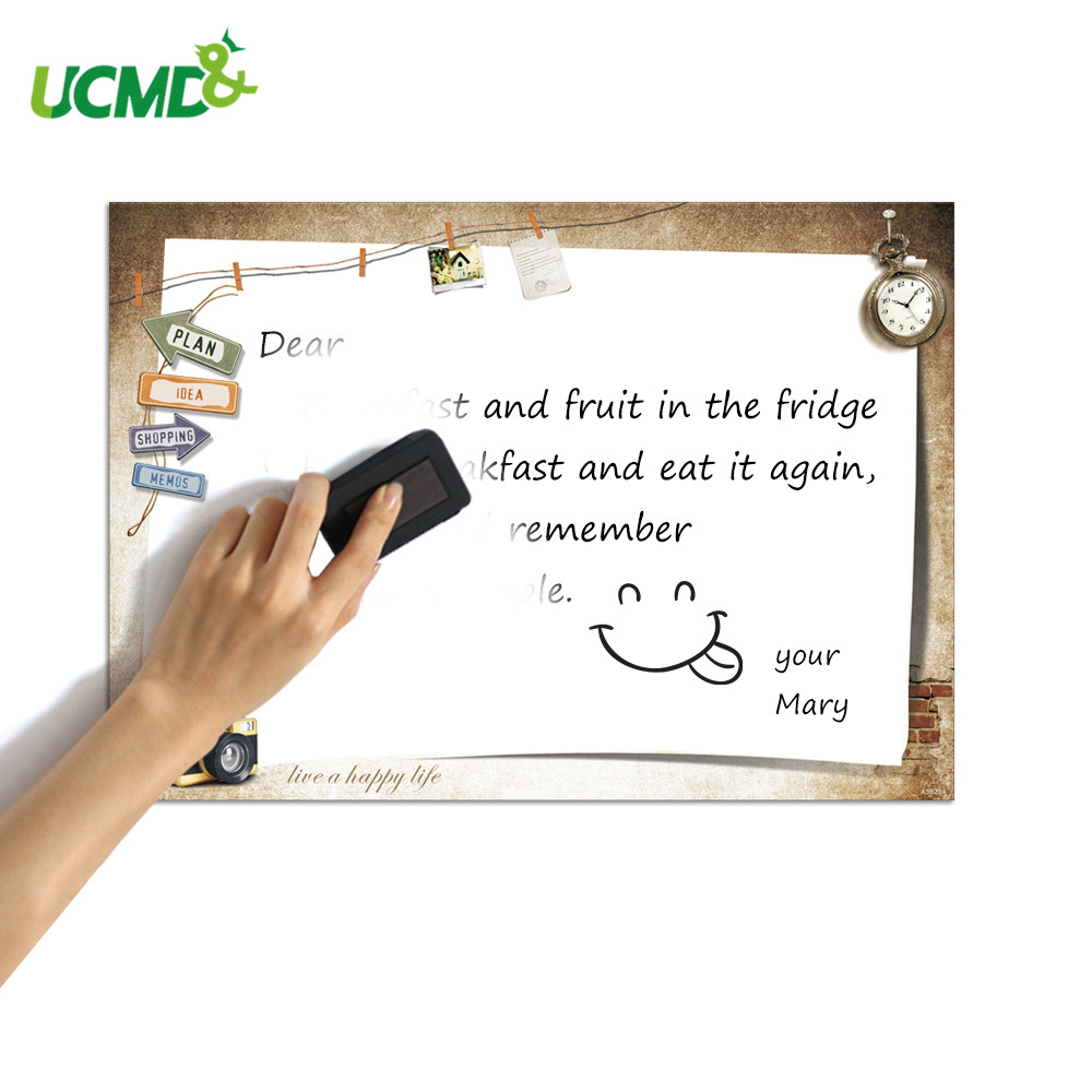 Erasable Magnetic Whiteboard For Fridge Magnet Sticker Decor Weekly Plan To Do List Writing Message Board Free Marker Pen Eraser