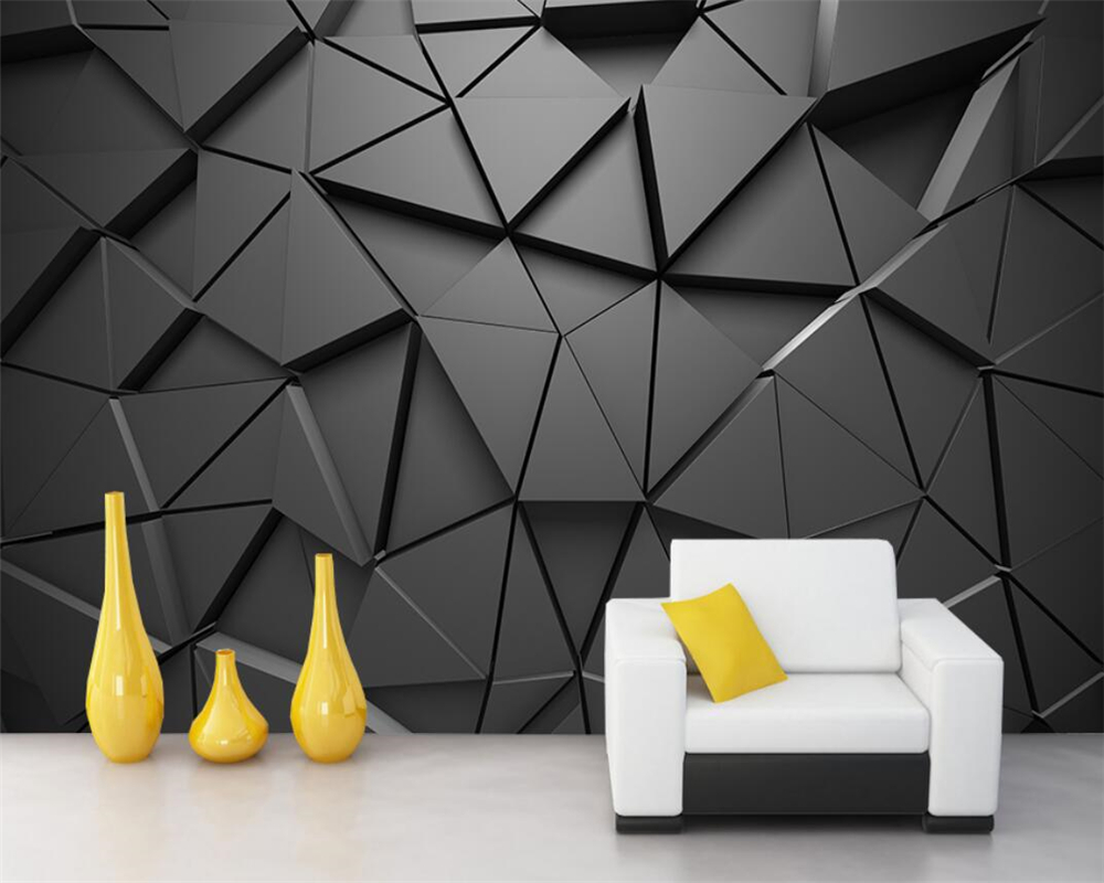 Beibehang Custom Wallpaper Nordic 3D Solid Geometric Abstract Gray Triangle Mural Decoration Background Wall Mural 3d Wallpaper