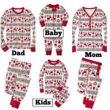 LOOZYKIT/семейный Рождественский пижамный комплект; одежда для сна для взрослых и детей; Детский комбинезон с Санта-Клаусом; Одинаковая одежда для сна для всей семьи