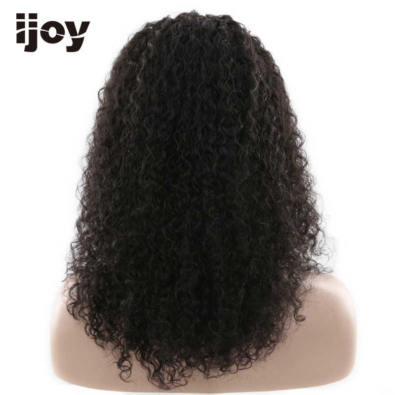 Afro Human Hair Wig 18 inches 110g Natural Color 100% Human Hair Lace Frontal Wig Remy Hair Free Shipping IJOY - 2