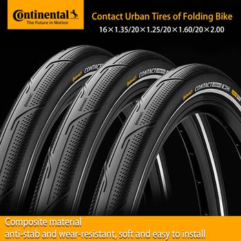 Continental Contact Urban 16 cali 20 cali odporna na uderzenia opona na rower składany BMX pasek odblaskowy składana opona rowerowa tanie i dobre opinie Opony CN (pochodzenie)