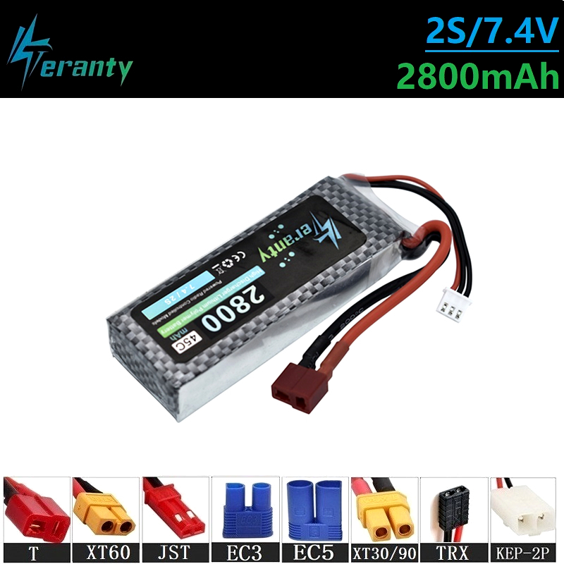 Upgrade 7.4v <font><b>2800MAH</b></font> 45C <font><b>Lipo</b></font> Batterry For RC Quodcopter Cars Boats Drones Spare Parts <font><b>2s</b></font> <font><b>2800MAH</b></font> 7.4v Rechargeable Batteries image