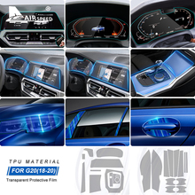 BMW 3 시리즈 G20 액세서리 용 대기 속도 LHD 특수 TPU 자동차 내부 보호 필름 스티커 방지 스크래치 범프 방지 필름