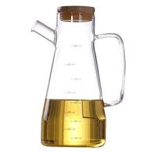 900 мл прозрачная стеклянная бутылка для масла с ручкой подходит