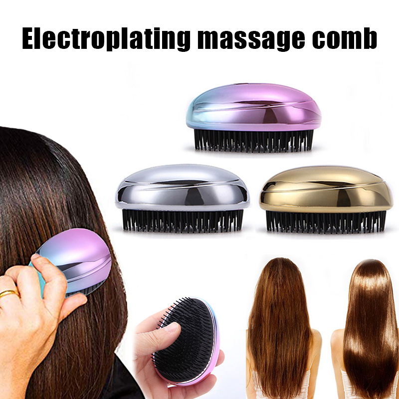 Portable Manual Ionic Hairbrush Mini Ion Vibration Hair Brush Comb Head Massager For Styling Anti-static Massage Hair Comb