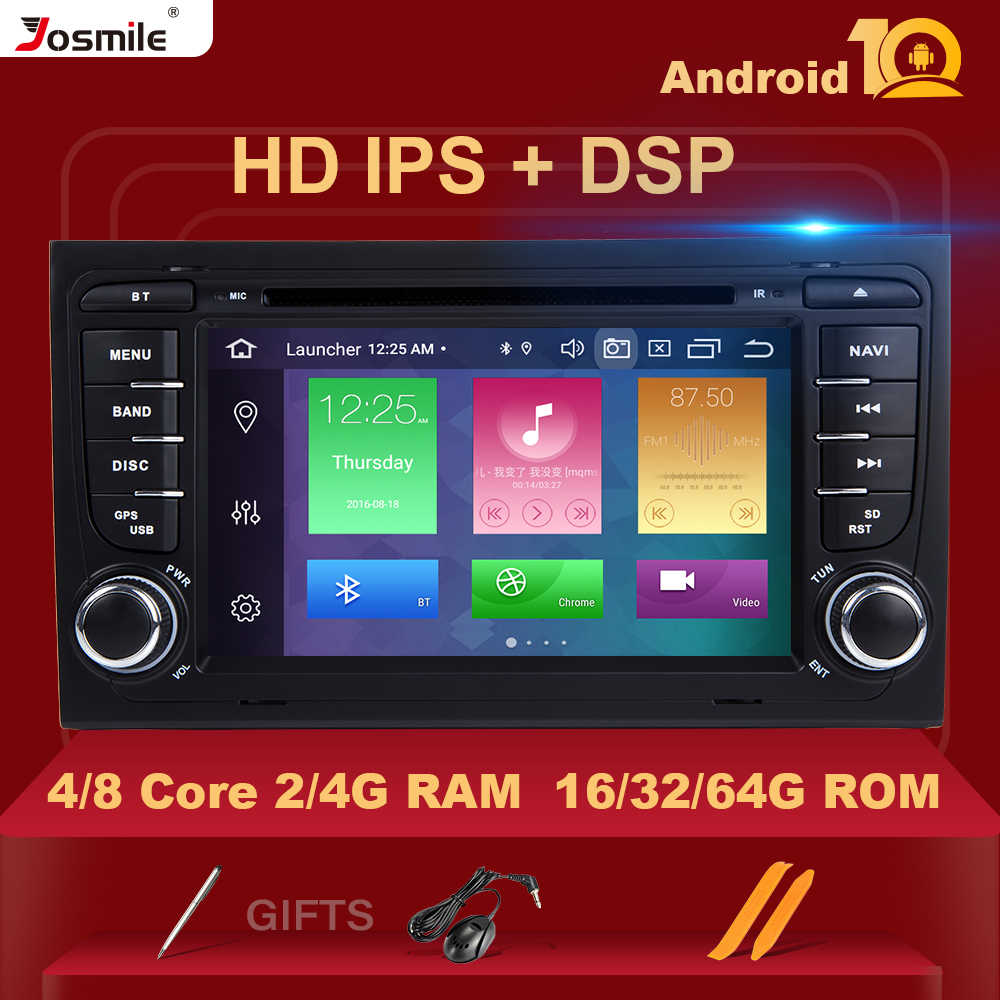 4GB 2 Din GPS Android 10 Auto Radio DVD Player per Audi A4 B8 S4 B6 B7 RS4 8E 8H B9 Seat Exeo 2002-2008 Multimeida NavigationDSP
