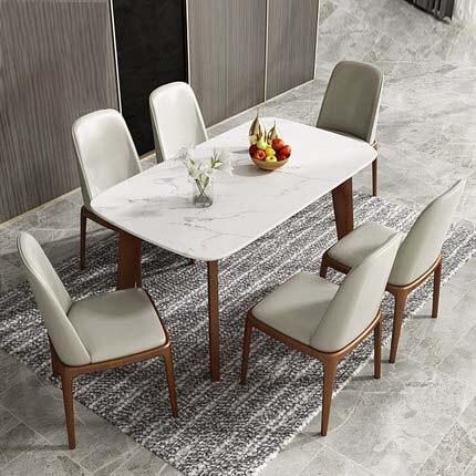 table a manger en marbre nordique moderne minimaliste lumiere maison de luxe toute table a manger en bois massif