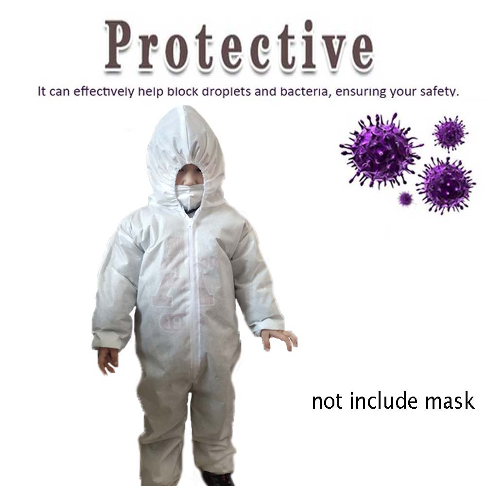 Non-Disposable Safety Protective Clothing Child Kids Dust-proof Siamese With Cap Antistatic Waterproof Isolation Clothing