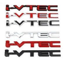 I vtec logotipo metal emblema emblema decalques etiqueta do carro para honda cidade cb400 i-vtec vfr800 cb750 civic accord odyssey spirior crv suv