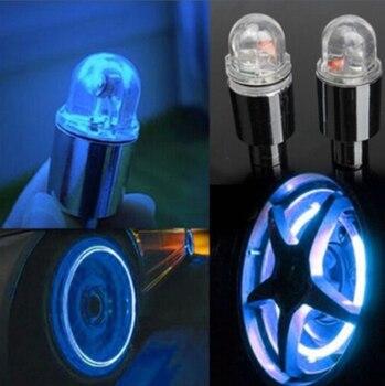 2pcs Auto Cars Wheel Light Decoration Bike Tire Led Light Deco LED Light Tire Valve Cap Cars Motorcycle Accessories