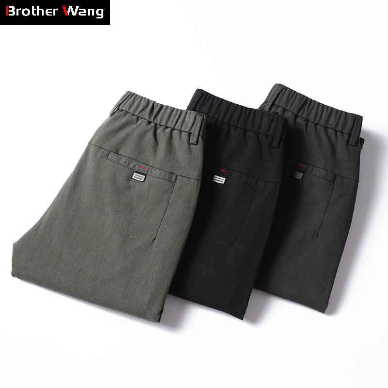 2019 New Brand Men's Casual Pants Fashion Slim Fit Stretch Trousers Business Classic Style Brand Clothing