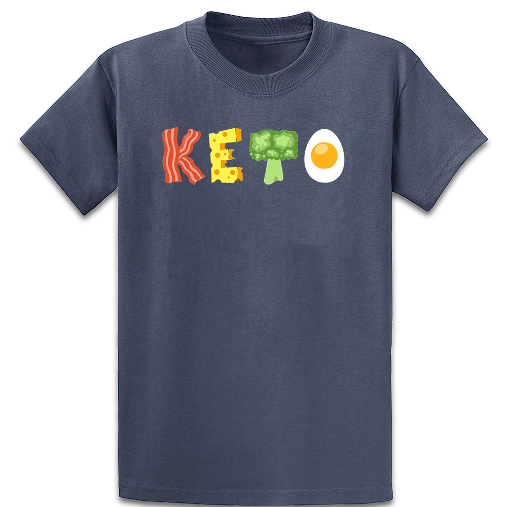 Keto Low Carb Diet T Shirt New Style Customized Basic Solid Summer Style Over Size 5xl Cotton Original Loose Shirt
