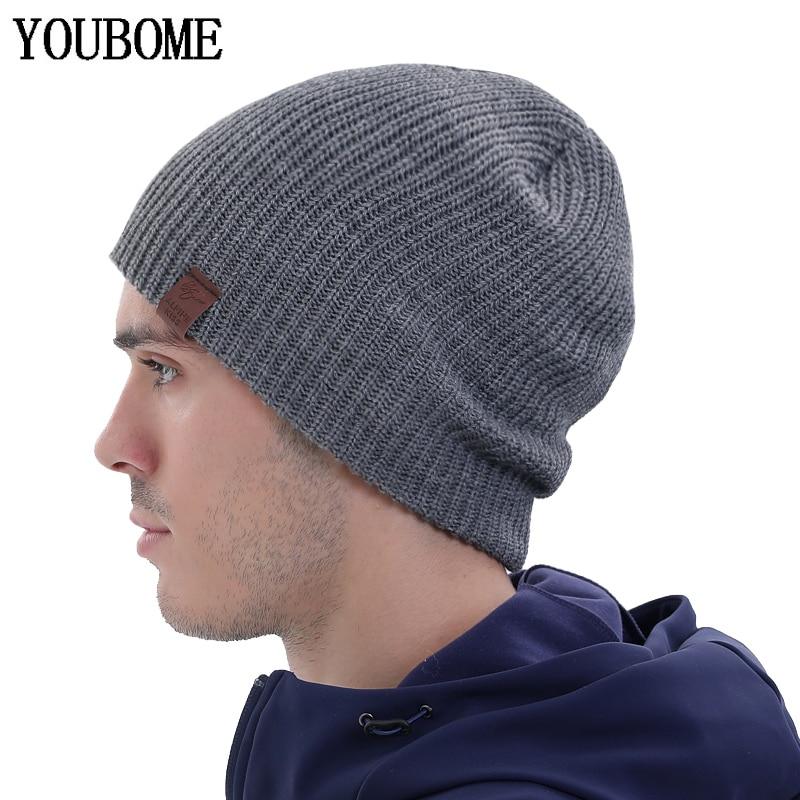 Brand Skullies Beanies Men Winter Hats For Men Knitted Hat Women Gorro Bonnet Solid Beany Warm Men's Winter Cap Male Beanie Hat