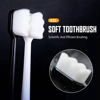 1x Ultra-fine Soft Million Toothbrush Portable Travel Eco-friendly Brush Tooth Care Oral Cleaning Tool for Adult Upgrade Version 1