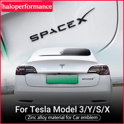For Tesla Model 3 Space X Sticker Letters Tail Letter Label Car Accessories Y S