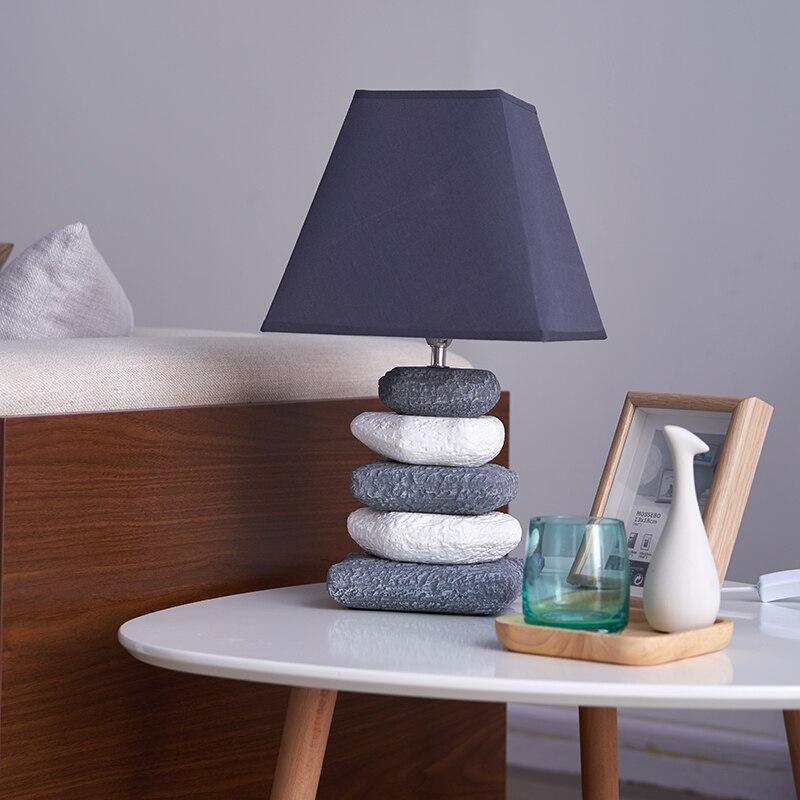 Ceramic Fabric LED Table Lamp For The Bedroom Home Deco Modern Table Light Fixture Bedside Living Room Restaurant Loft Desk Lamp