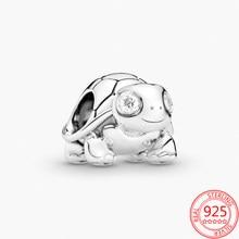 Женский браслет из серебра 925 пробы, с подвеской в виде черепахи