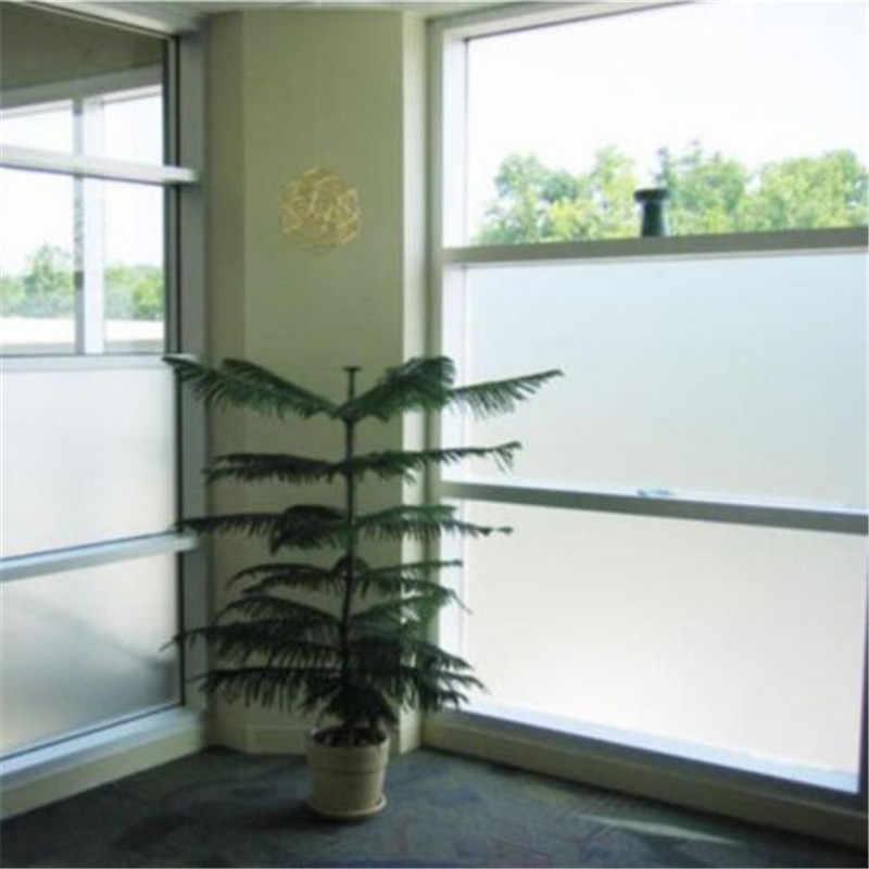 Mais novo 2m * 45cm fosco opaco vidro janela filme para janela privacidade adesivos de vidro adesivo decoração da casa quarto cor misturada