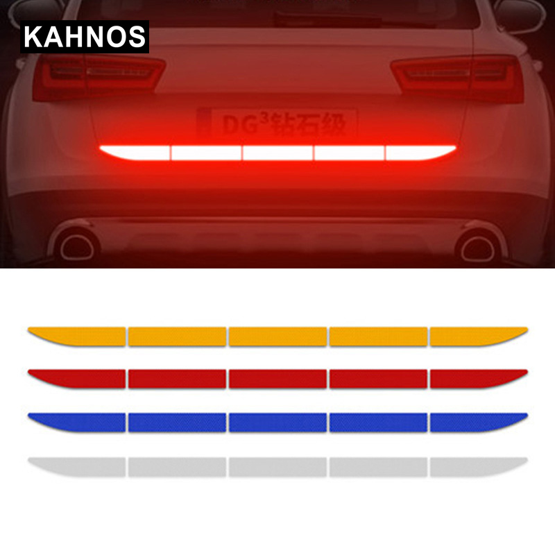 Car Reflective Sticker Warn On Car Body Trunk Auto Exterior Reflective Strip Stickers
