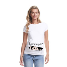 Summer Funny Cartoon Print Maternity Clothing Plus-Size Short Sleeve Pregnant T-Shirt Tops  Women Hot Sale T-Shirts
