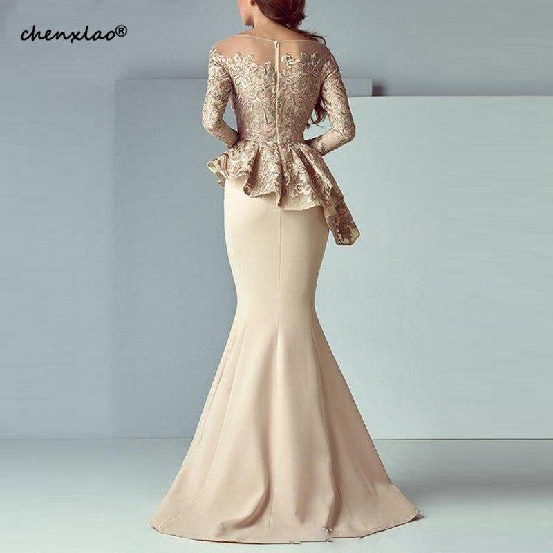 Champagne-Mermaid-Evening-Dresses-2019-Long-Evening-Gown-Long-Sleeves-Lace-Peplum-abiye-Robe-De-Soiree