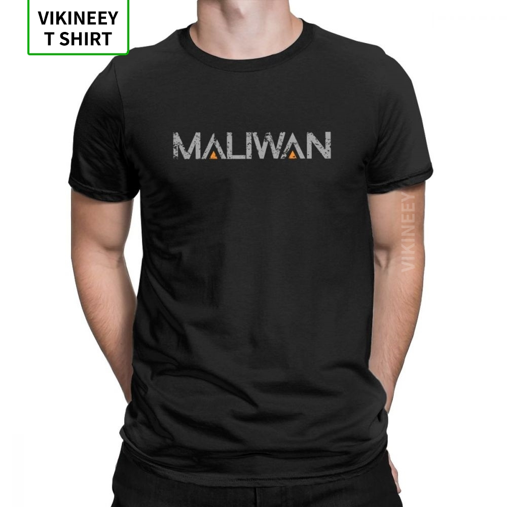 Men T-Shirt Maliwan <font><b>Borderlands</b></font> Funny 100% Cotton Tee Shirt Short Sleeve Team Weapon Games T Shirt Crewneck Clothing Party image